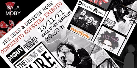CONCIERTO TRIBUTO A THE CURE Y DEPECHE MODE:MOBY MADRID. THE EXPLODING BOYS entradas