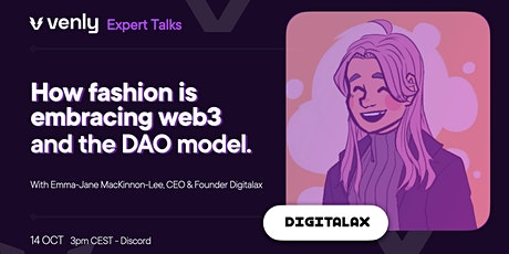 Venly Expert Talk - How fashion is embracing web3 and the DAO model tickets