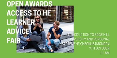 Open Awards Access to HE Virtual Learner Advice Fair - Edge Hill University tickets