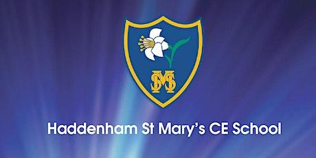 HADDENHAM ST MARY'S CHURCH OF ENGLAND SCHOOL OPEN MORNINGS tickets