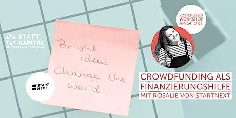Crowdfunding als Finanzierungshilfe Tickets