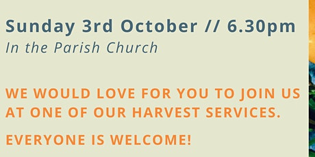 6.30pm: Harvest Thanksgiving Service tickets