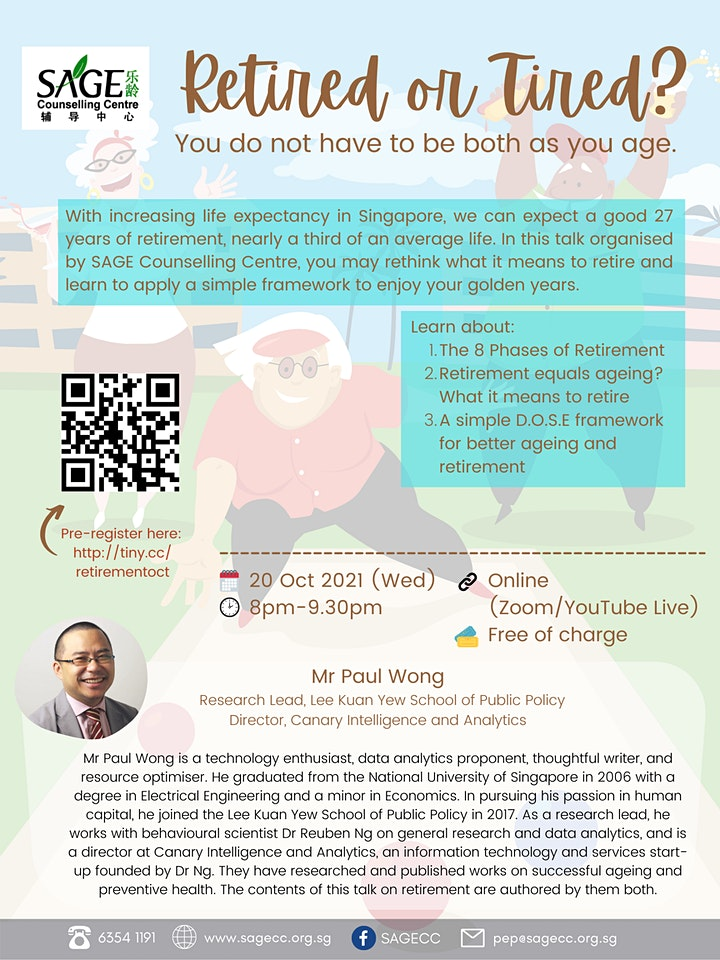 [Free Public Online Talk] Retired or Tired? image
