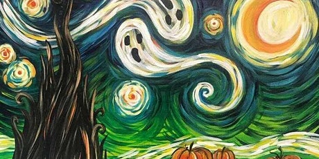 Paint and Sip - Halloween Starry Night tickets