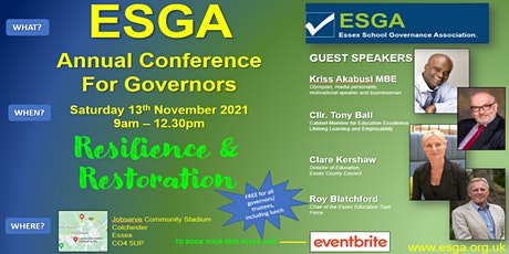 ESGA Annual Conference for Governors - 'Resilience & Restoration' tickets