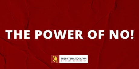 The Power of No! Workshop tickets