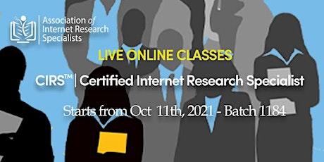 CIRS  Certification Internet Research Training Program tickets