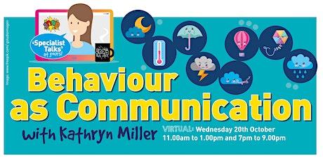Behaviour as Communication -11am tickets