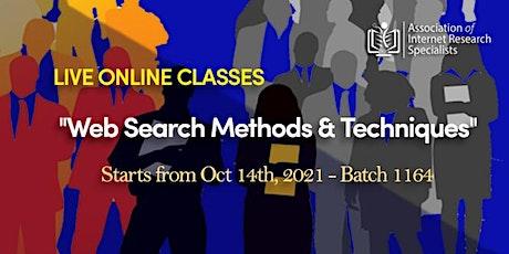 Web Search Skills Methods & Techniques Online Training Program tickets