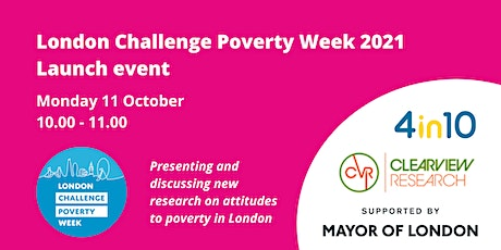 London Challenge Poverty Week 2021 - Launch Event tickets