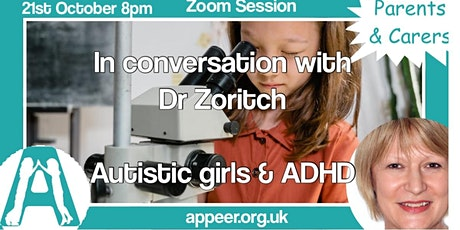 Appeer Parent / Carer Session, Autistic Girls and ADHD tickets