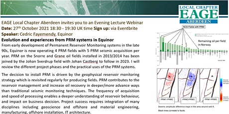 Cedric Fayemendy Evolution and experiences from PRM systems in Equinor Tickets