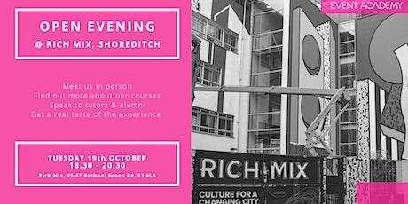 Event Academy Open Evening @ Rich Mix tickets