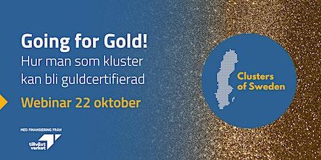 Going for Gold! Hur man som kluster kan bli guldcertifierad biljetter
