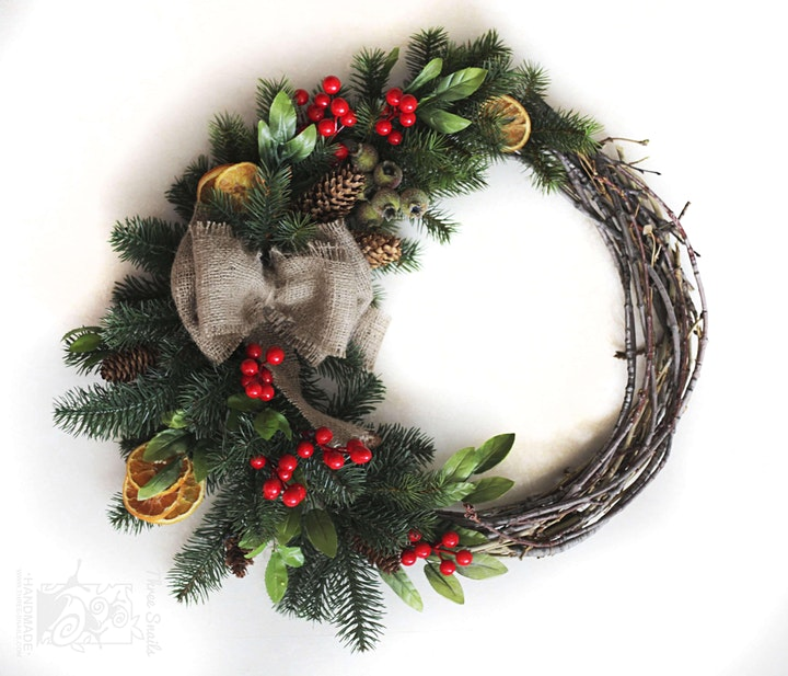 Christmas Wreath Making Workshop (1) per ticket image