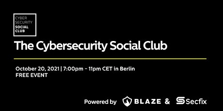 The Cybersecurity Social Club Tickets