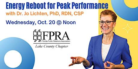 Energy Reboot for Peak Performance tickets