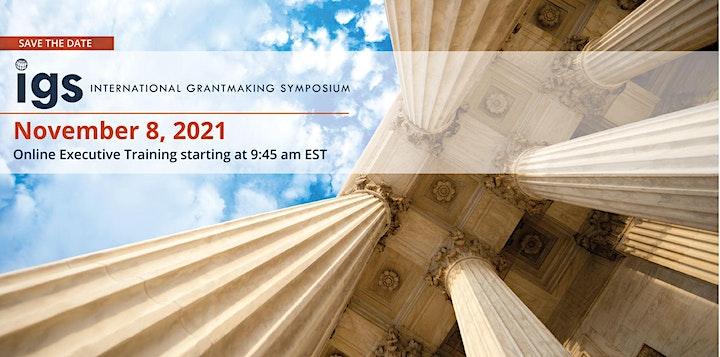 International Grantmaking Symposium (Online) - IGS 2021 image