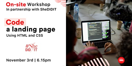 Learn to code with Le Wagon & SheDIDIT! tickets