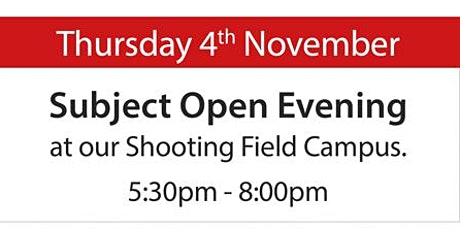SGS Sixth Form Open Evening - Thursday 4th November 2021 tickets
