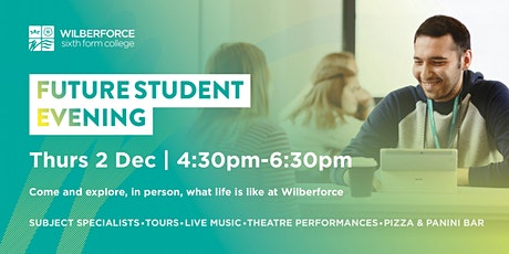 Future Student Evening - 2 Dec tickets