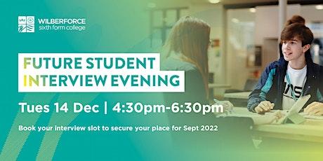 Future Student Interview Evening - 14 Dec tickets