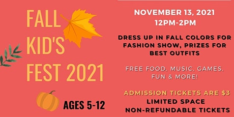 Fall Fest 2021 - Kid's Day Party! tickets