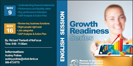 Growth Readiness-2 part series ( Nov 9th & 16th) tickets