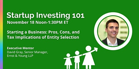 Startup Investing 101 with David Gray tickets
