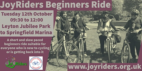Beginner Ride: Leyton Jubilee Park to Springfield and Markfield Park tickets