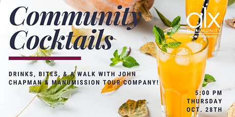 Community Cocktails + Manumission Walking Tour tickets