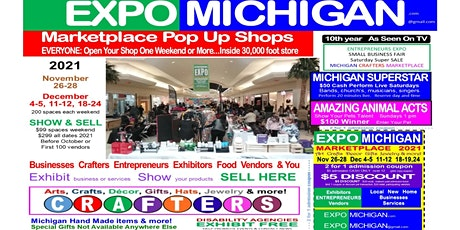 EXPO MICHIGAN marketplace - Arts Crafts Show - Small Business FAIR tickets