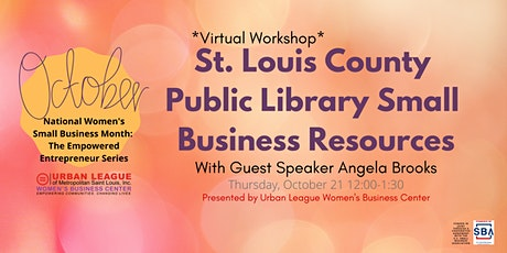 St. Louis County Library Small Business Resources tickets