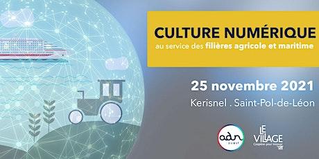 Culture numérique : au service des filières agricole et maritime billets