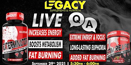 Live Q & A - Exterminator & Stim Reaper  Legacy Supplements El Paso TX tickets