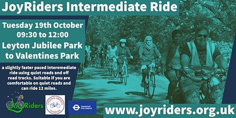 Intermediate Bike Ride from Jubilee Park to Valentine's Park tickets