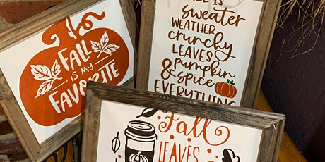 Fall Signs Make & Take tickets