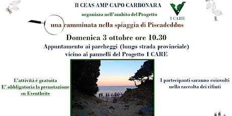 Camminata nella spiaggia di Piscadeddus - Progetto I CARE biglietti