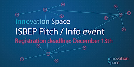 ISBEP Pitch / Info event tickets