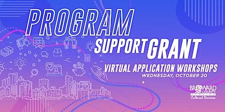Program Support Grant: Virtual Application Workshop tickets