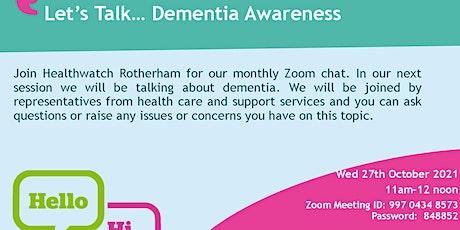 Let's Talk...Dementia Awareness tickets