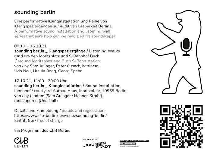 sounding berlin – Klangspaziergang von Peter Cusack: Bild