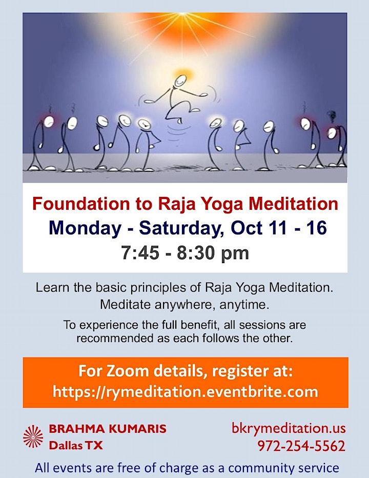 Foundation to Raja Yoga Meditation image