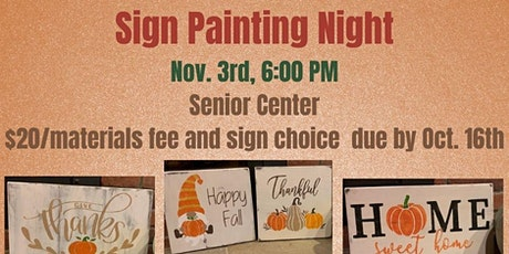 Sign Painting Night (Adult & YA) tickets