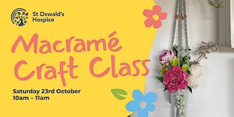 Macramé Virtual Craft Class tickets