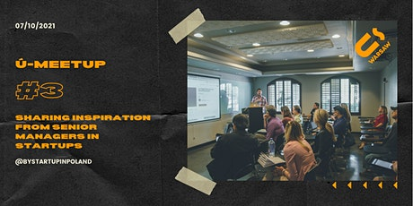 Ū-meetup #3. Get inspiration from top BY and PL tech startups tickets