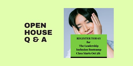 Leadership Inclusion Bootcamp Open House tickets