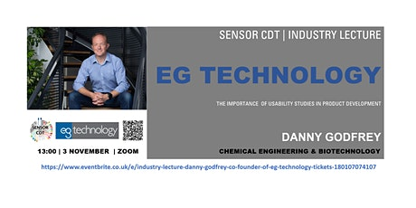 Industry Lecture - Danny Godfrey  Co-founder of EG Technology tickets