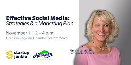 Effective Social Media: Strategies & a Marketing Plan tickets