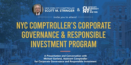 NYC Comptroller's Corporate Governance & Responsible Investment Program tickets